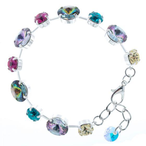 Lisa Marie Jewelry Swarovski Crystal Bracelet - Vitrail Rivoli Combo