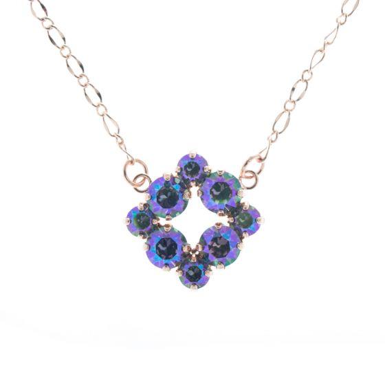 Lisa Marie Jewelry Open Square Swarovski Crystal Necklace - Paradise Shine