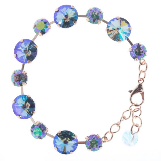 Lisa Marie Jewelry Rose Gold & Paradise Shine Swarovski Crystal Bracelet