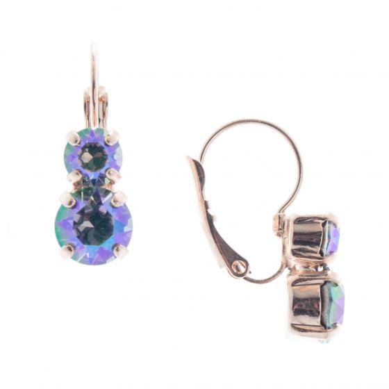 Lisa Marie Petite Two Stone Swarovski Crystal Earrings - Paradise Shine