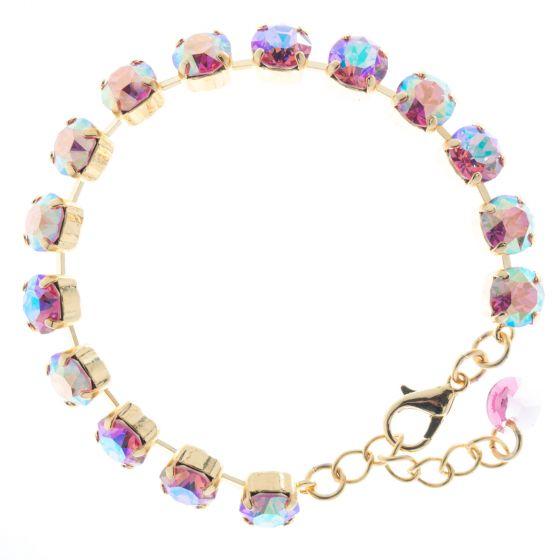 Lisa Marie Jewelry 8mm Swarovski Crystal Tennis Bracelet - Rose AB