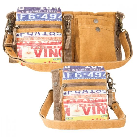 License Plate 3 Way Crossbody Festival Belt Bag by Clea Ray
