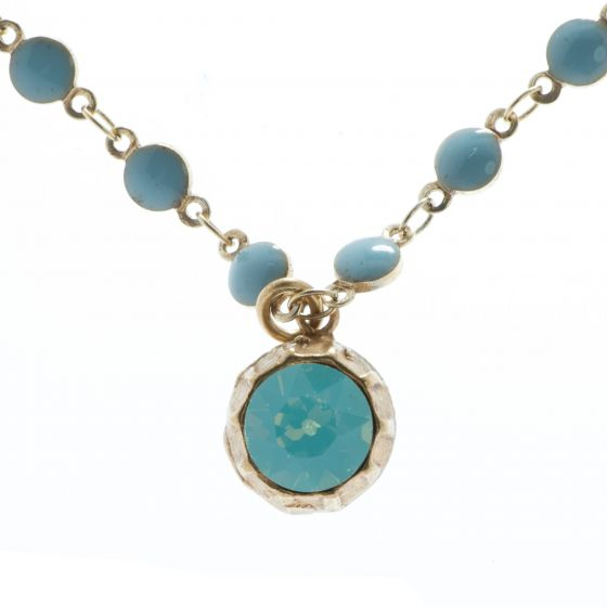 Catherine Popesco Two Sided Rhinestone Ball Necklace - Pacific Opal