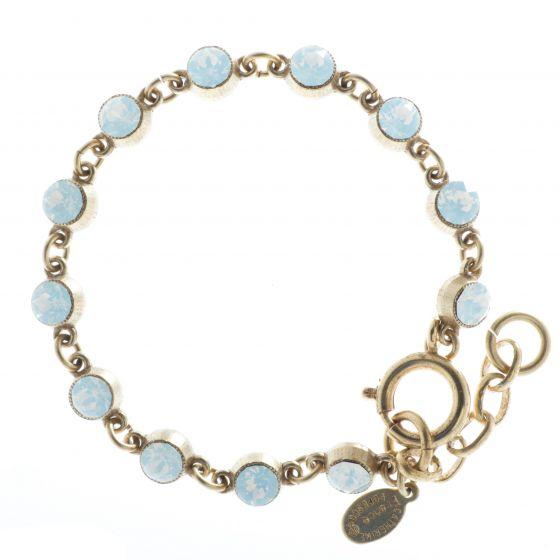 Catherine Popesco White Opal Petite Stone Crystal Bracelet