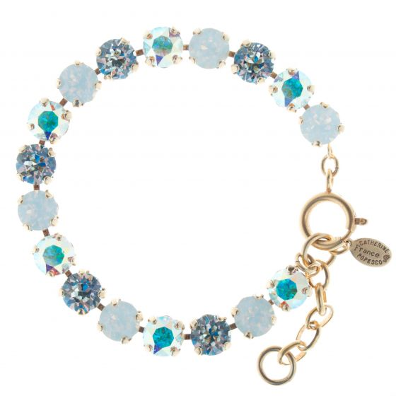 Catherine Popesco Cup-Chain Crystal Bracelet - White Opal AB Combo