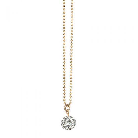 Catherine Popesco Small Pave Globe Crystal Pendant Necklace