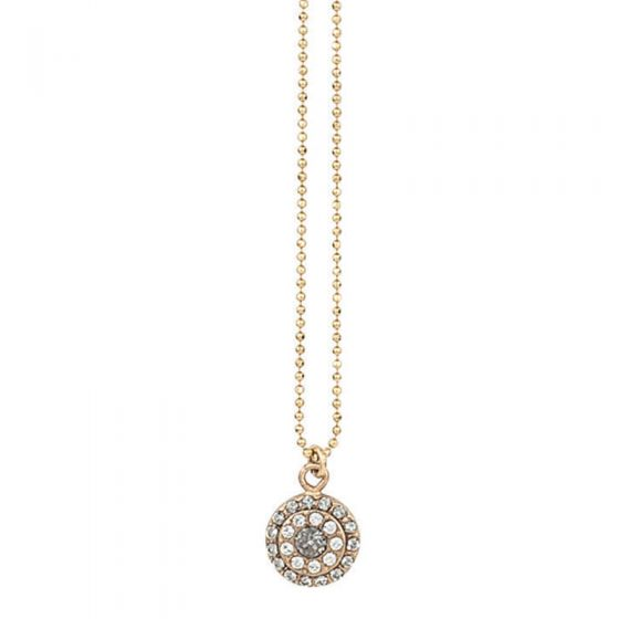Catherine Popesco Small Round Pave Crystal Pendant Necklace