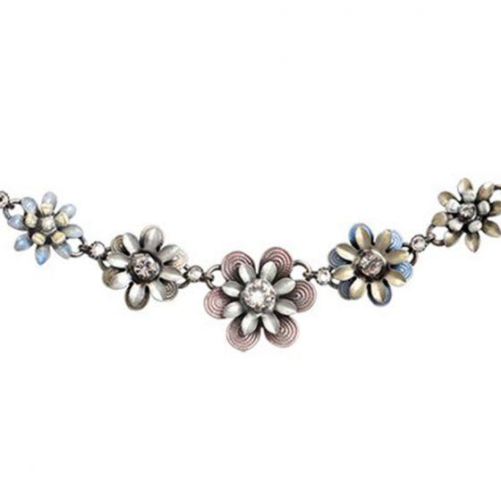 Konplott Jewelry - Mille Fleurs Multi Pastel Enamel Crystal Flower Necklace