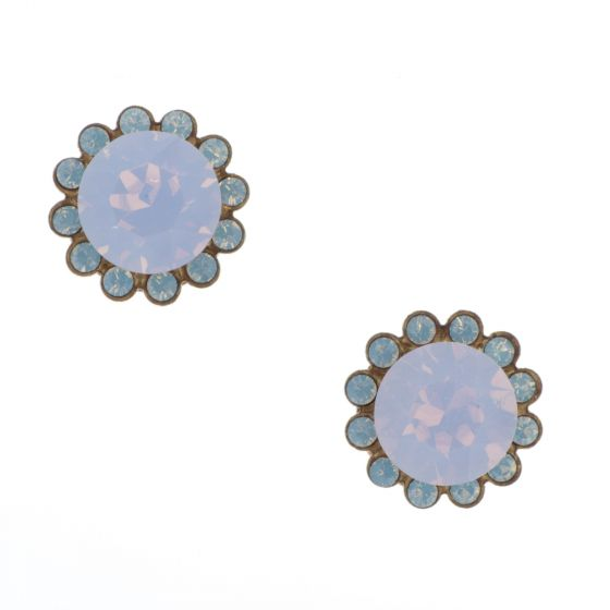 Catherine Popesco Crystal Flower Stud Post Earrings - Assorted Colors