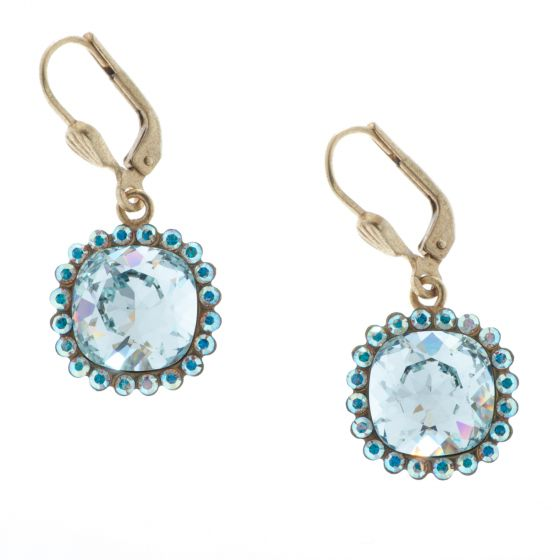 Catherine Popesco Rhinestone Border Crystal Earrings - Assorted Colors