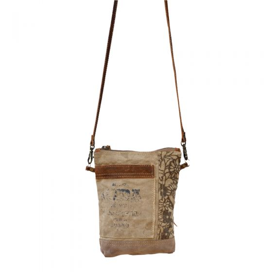 Aida Transcription Leather & Canvas Passport Bag/Purse by Clea Ray