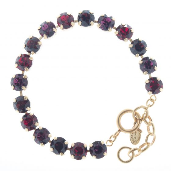 Catherine Popesco Multi Color Crystal Bracelet - Ruby Amethyst Combo