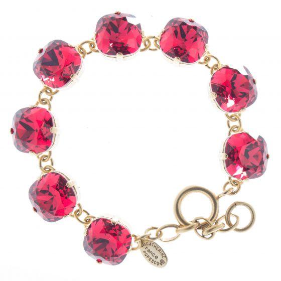 Catherine Popesco 12mm Large Stone Crystal Bracelet - Scarlet Red