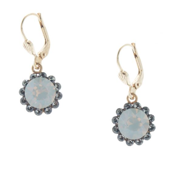Catherine Popesco Crystal Flower Dangle Earrings - Assorted Colors