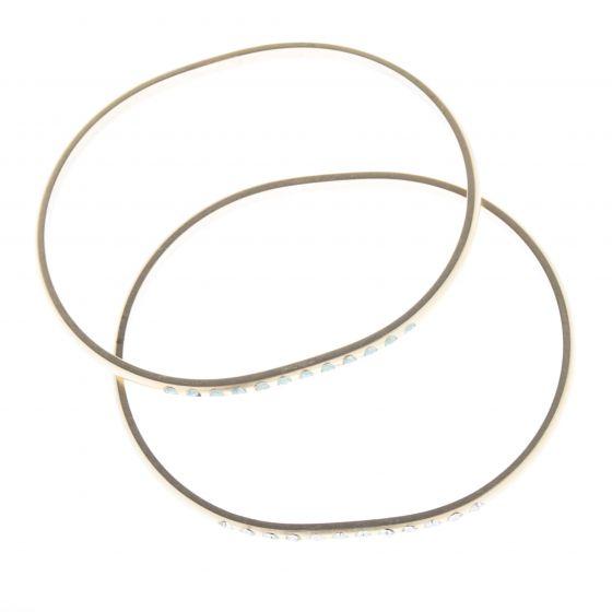 Catherine Popesco Rhinestone Oval Bangle Crystal Bracelet