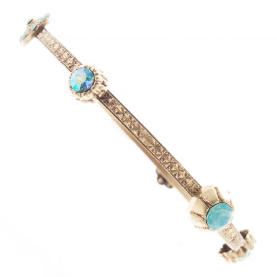 Catherine Popesco Crystal Charm Bangle Bracelet - Pacific Opal