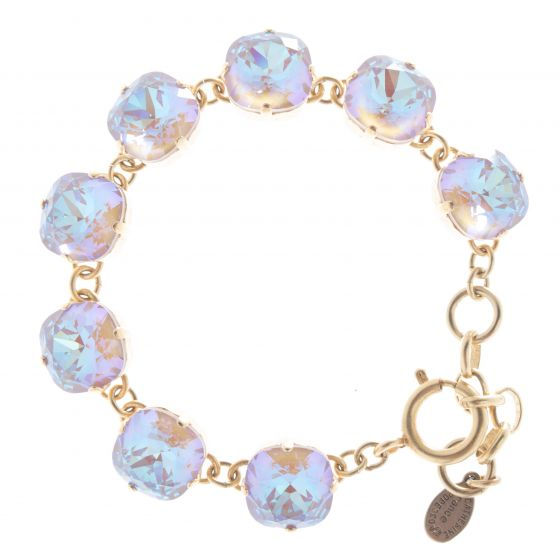 Catherine Popesco 12mm Large Stone Crystal Bracelet - Cappuccino