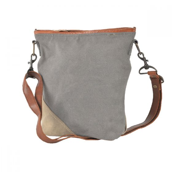 Leather & Canvas Plain Messinger Bag/Purse by Clea Ray