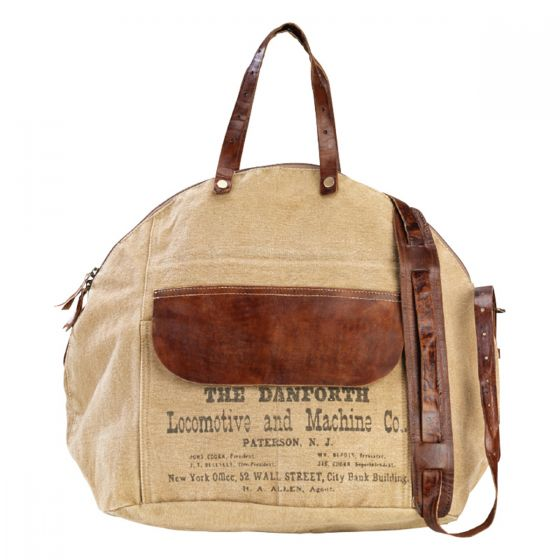 Danforth Tote Leather and Canvas Shoulder Bag by Clea Ray