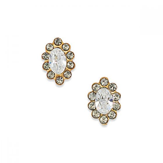 Catherine Popesco Marquise Rhinestone Crystal Post Earrings - Assorted Colors
