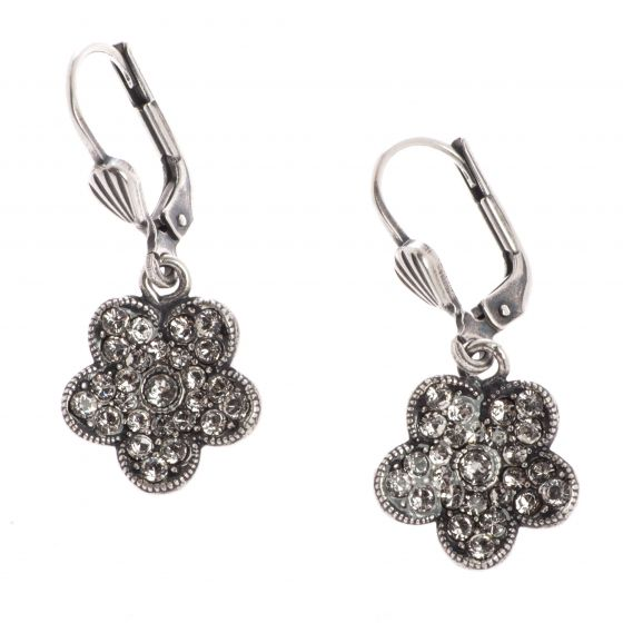 Catherine Popesco Small Rhinestone Flower Crystal Earrings - Assorted Colors