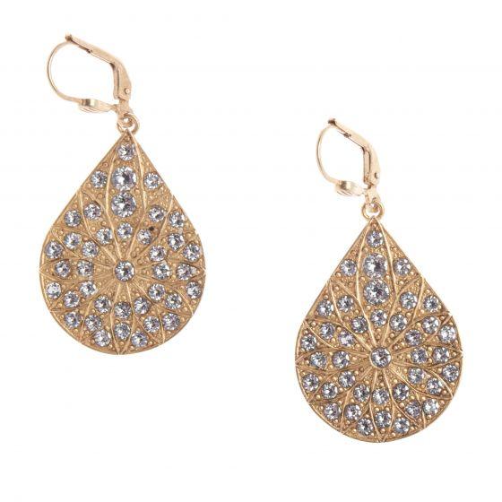 Catherine Popesco Rhinestone Teardrop Crystal Earrings - Assorted Colors
