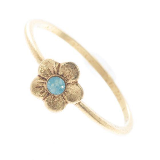 Catherine Popesco Ring - Petite Pacific Opal Crystal Flower