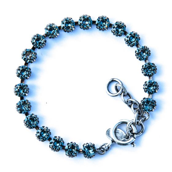 Catherine Popesco Small Stone Crystal Bracelet - Indian Sapphire and Silver