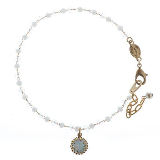 Catherine Popesco Small Crystal Beaded Bracelet - White Opal