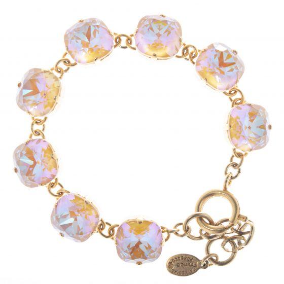 Catherine Popesco 12mm Large Stone Crystal Bracelet - Caramel