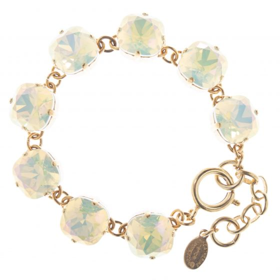 Catherine Popesco 12mm Large Stone Crystal Bracelet - Lemon