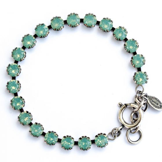 Catherine Popesco Small Stone Crystal Bracelet - Pacific Opal and Silver