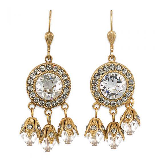 Catherine Popesco Crystal Chandelier Earrings - Black Diamond