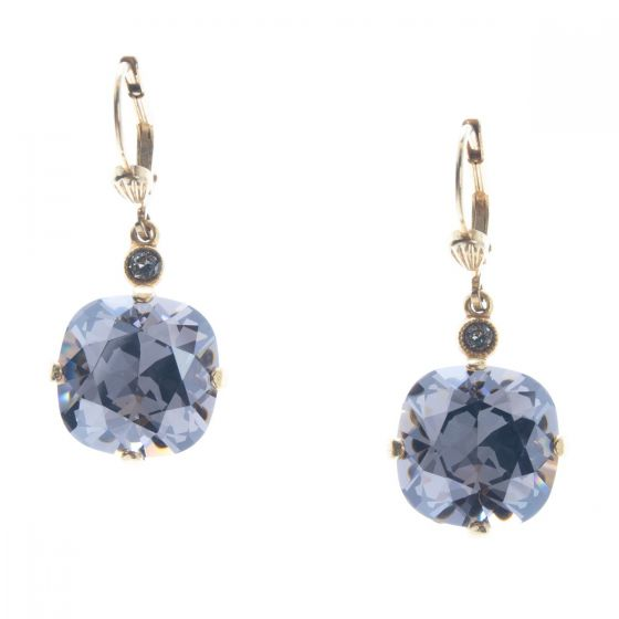 Catherine Popesco 12mm Large Stone Crystal Earrings - Mystique