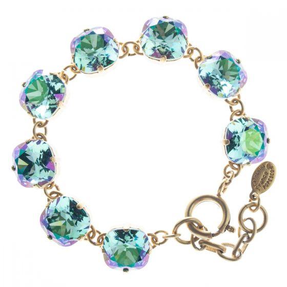 Catherine Popesco 12mm Large Stone Crystal Bracelet - Luminous Aqua