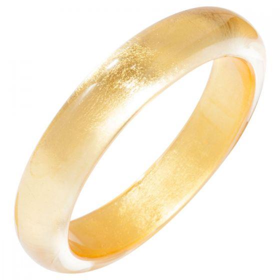 ZSISKA Handmade Designer Bangle Bracelet - Precious Gold or Silver Leaf