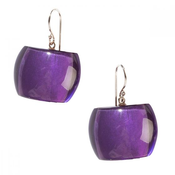 ZSISKA Handmade Designer Earrings - Bellissima Purple