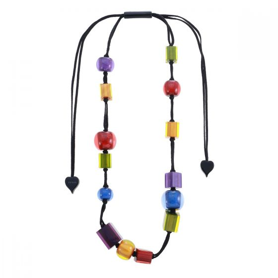 ZSISKA Handmade Designer Necklace - Colourful Cubes - New Spectrum