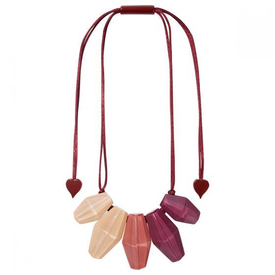 ZSISKA Handmade Designer Necklace - Shades Sangria
