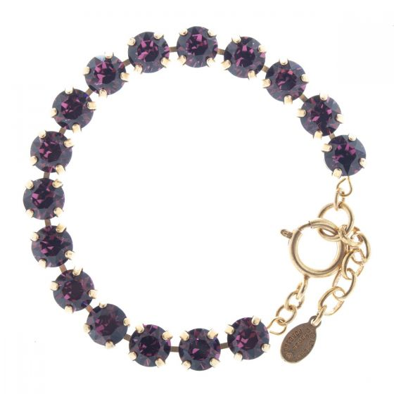 Catherine Popesco Crystal Tennis Bracelet - Purple Amethyst