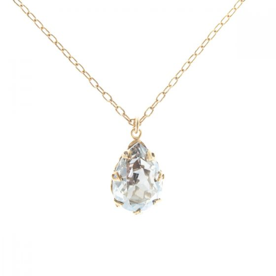 Catherine Popesco Large Teardrop Crystal Necklace - Assorted Colors