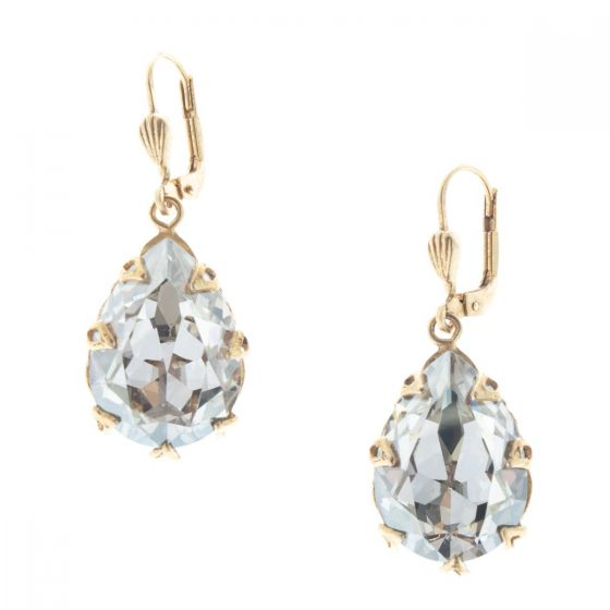 Catherine Popesco Large Teardrop Crystal Earrings - Assorted Colors