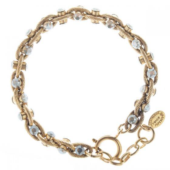 Catherine Popesco Sand Opal Crystal Rope Chain Bracelet