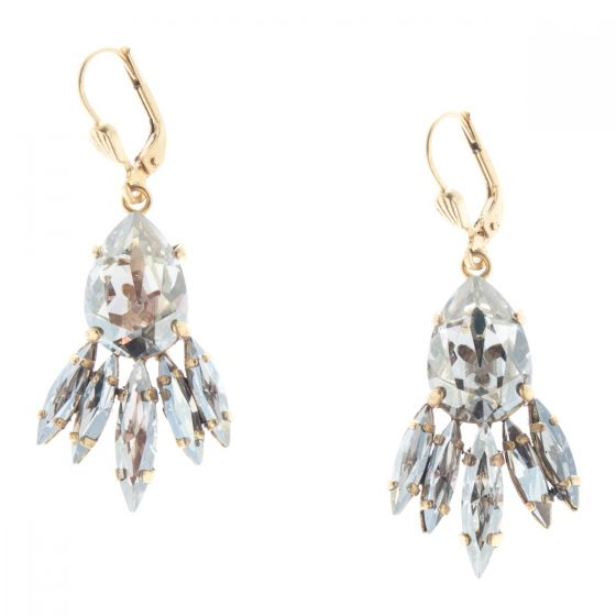 Catherine Popesco Jagged Edge Teardrop Crystal Earrings - Assort Colors