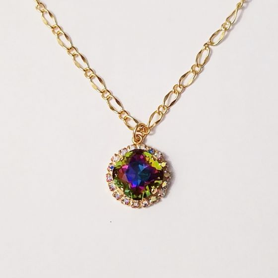 Lisa Marie Jewelry Crystal Rhinestone Pendant Necklace - Assorted Colors