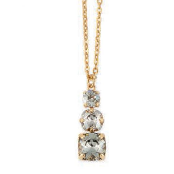 Catherine Popesco 3 Stone Crystal Pendant Necklace - Assorted Colors