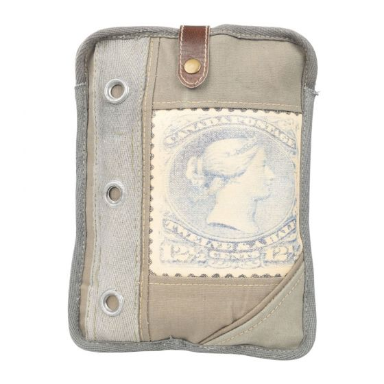 Stamp iPad Tablet Holder by Clea Ray Leather & Re-purposed Canvas