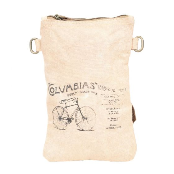 Columbias Bicycle Passport Bag/Purse by Clea Ray Leather & Canvas