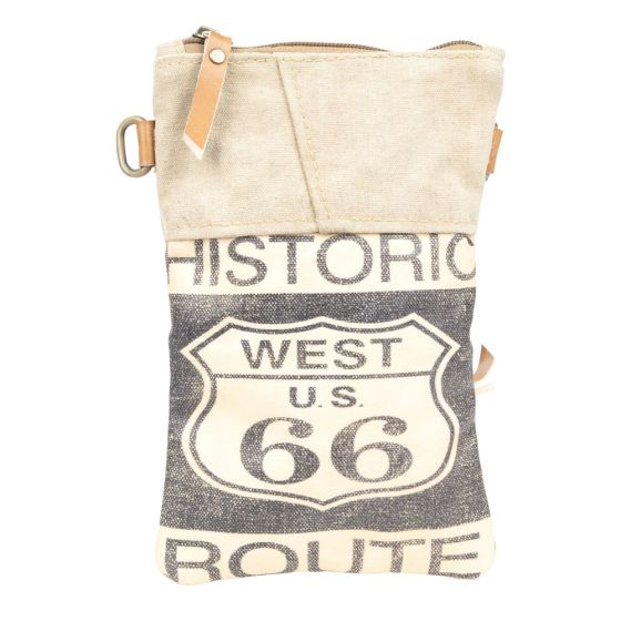 Historic Route 66 Passport Bag/Purse by Clea Ray Leather & Canvas