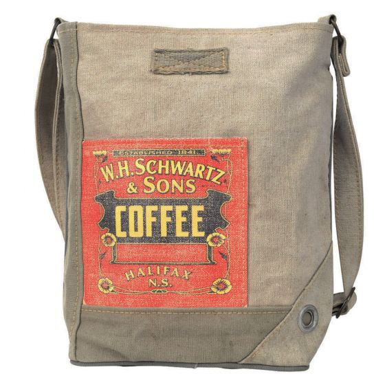 Front Pocket Coffee Print Bag/Purse by Clea Ray Leather & Canvas